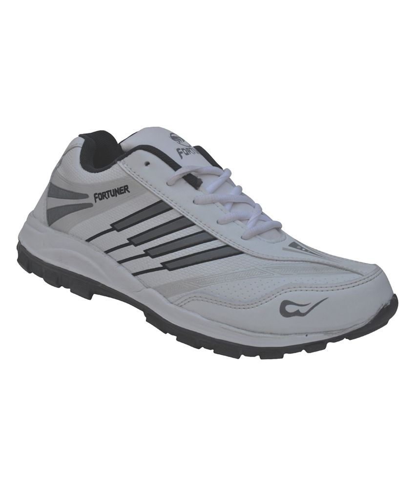 Fortuner Gray Synthetic Leather Lace Sports Shoes