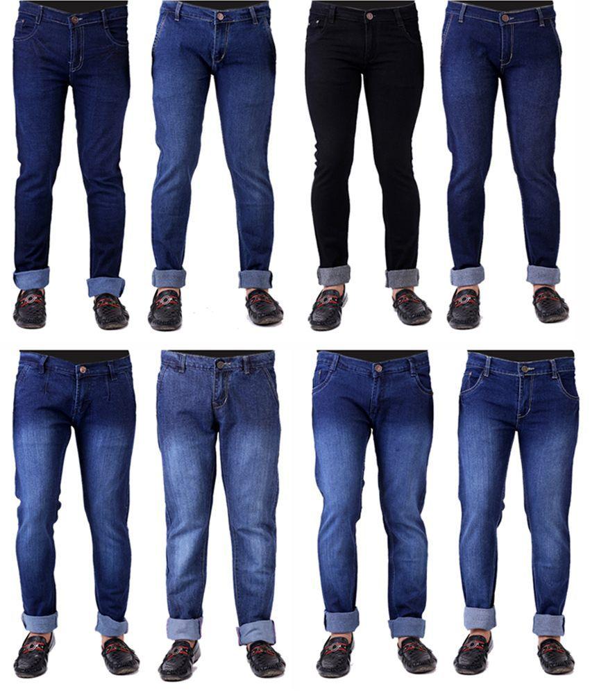 Haltung Menu0026#39;s Jeans Combo Of 8 Denim - Buy Haltung Menu0026#39;s Jeans Combo Of 8 Denim Online at Low ...