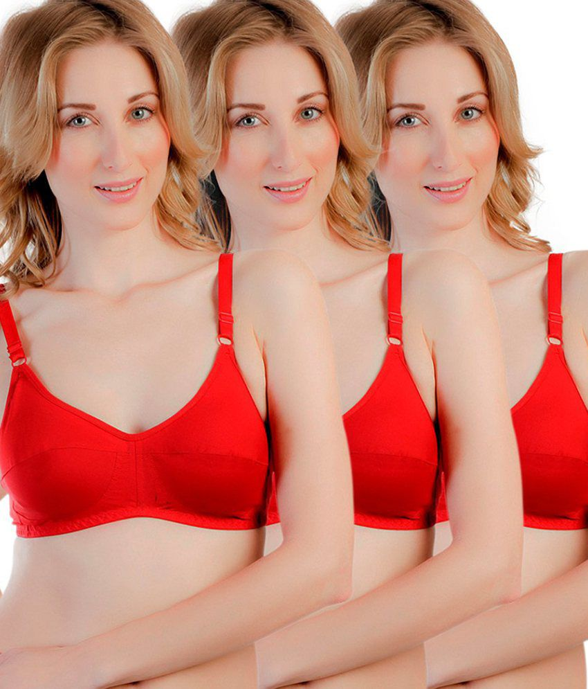 Souminie Multi Color Non-Padded Bra Pack of 3