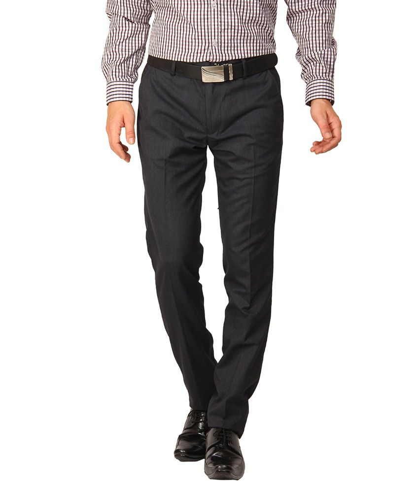 Black Coffee Woven Formal Trouser