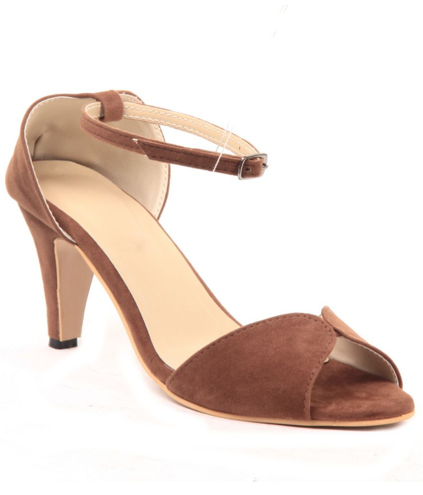 Adorn Brown Stiletto Sandals