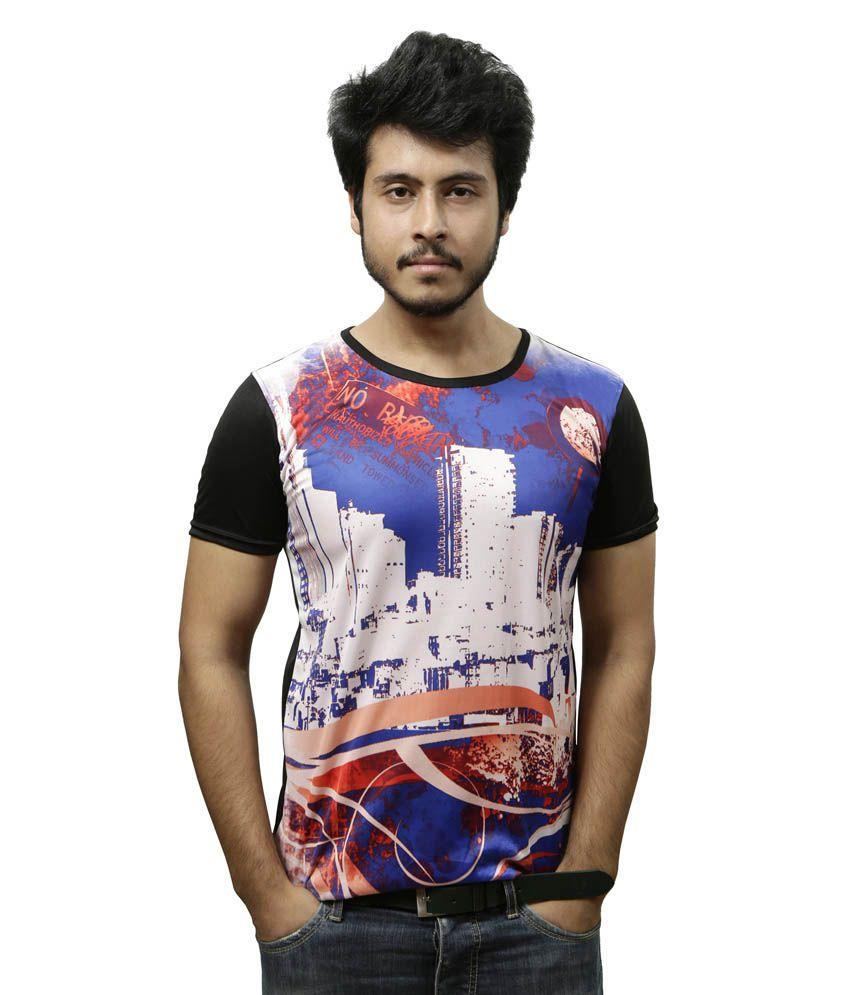 Gypsy Soul Multi HalfSleeve Polyester T-Shirt