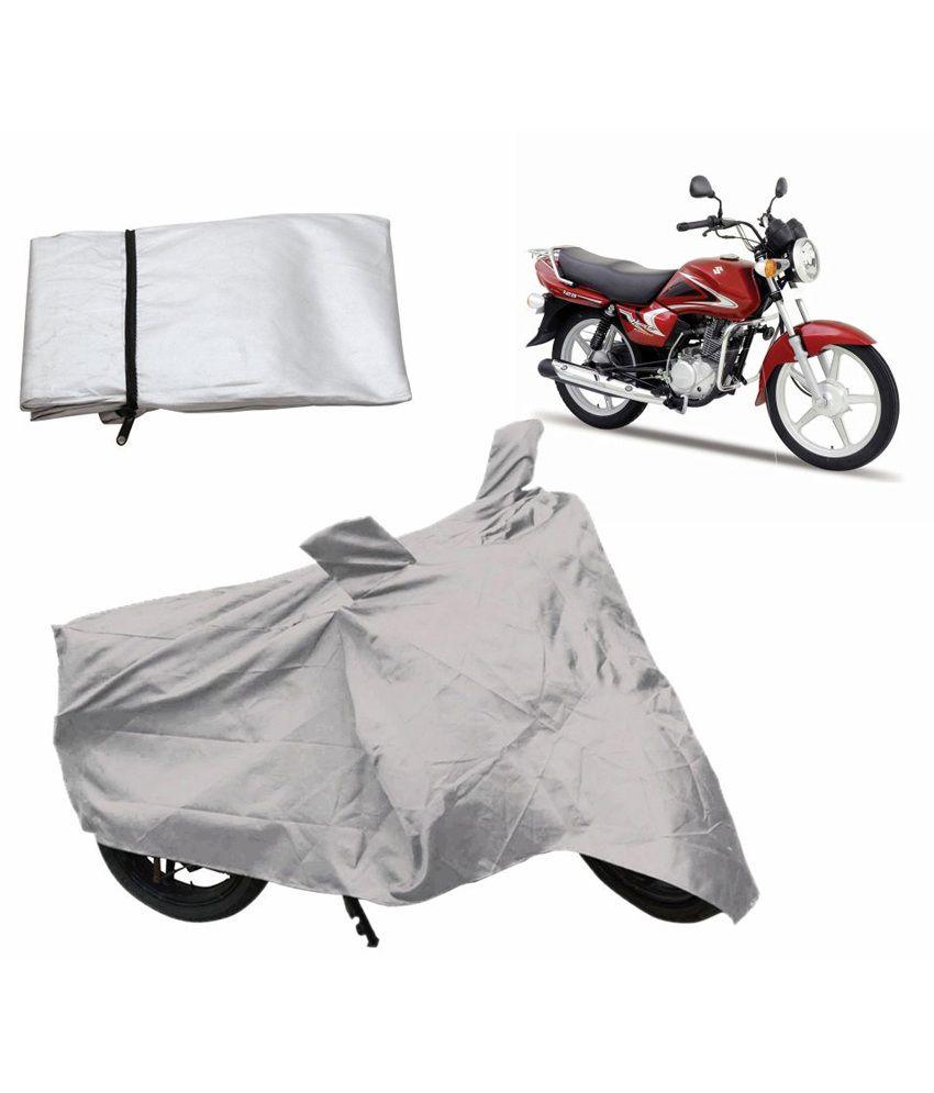 Relax Auto Accessories Bike Body Cover For Suzuki Heat - Silver