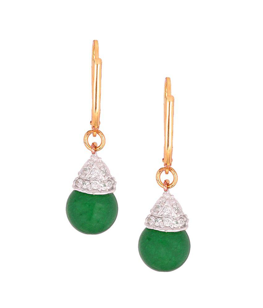 Varaagk Green Antique Designer Drop Earring