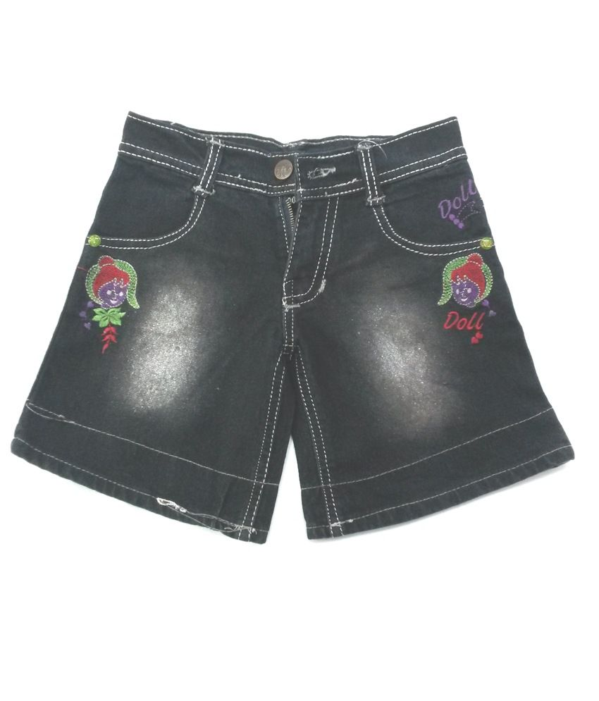 4s Denim Black Shorts