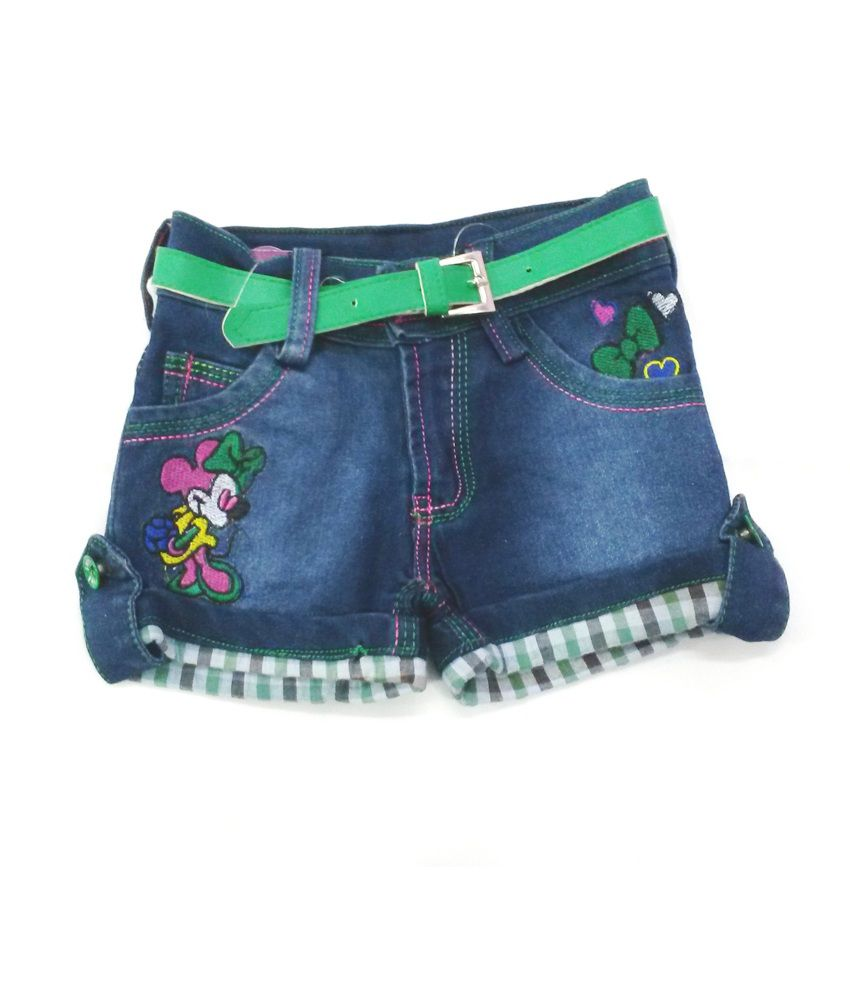 4s Fancy Blue Denim Shorts