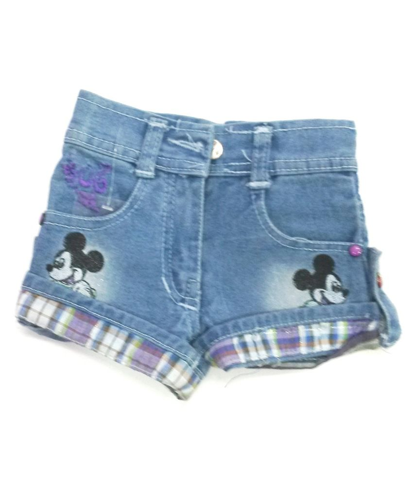 4s Mickey Mouse Denim Shorts