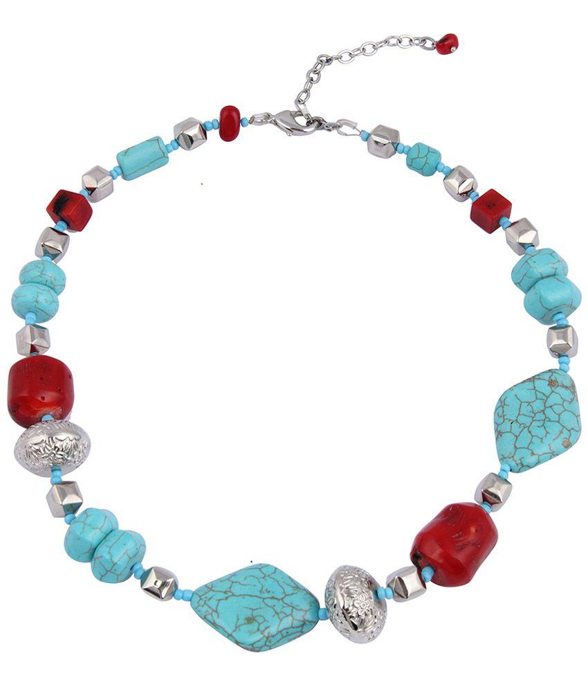 Pearlz Ocean Blue Beaded Necklace