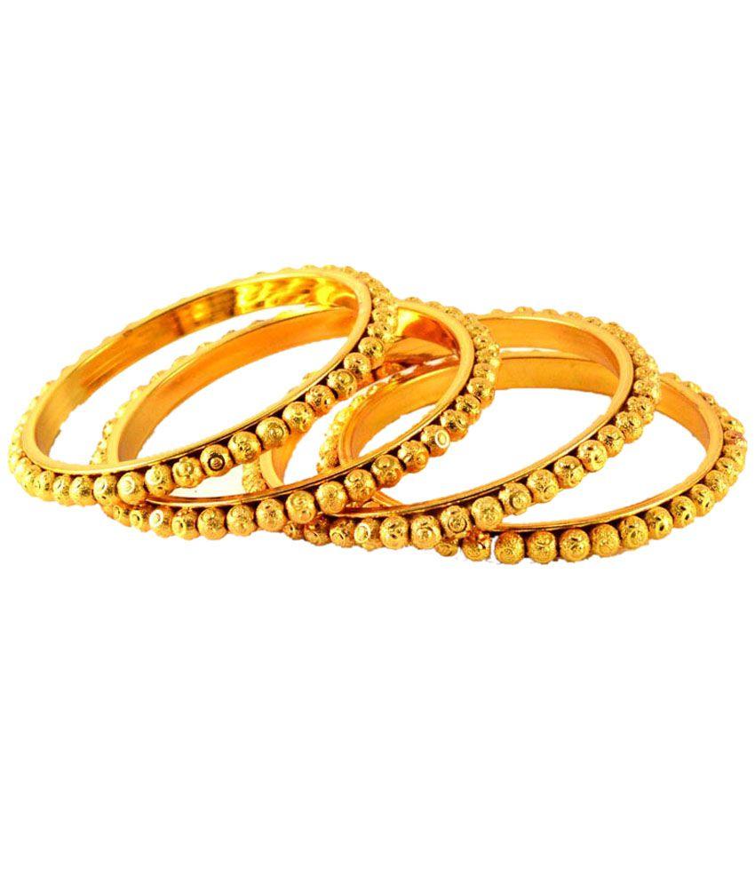 Vidhya Kangan Gold Bangle Set: Buy Vidhya Kangan Gold ...
