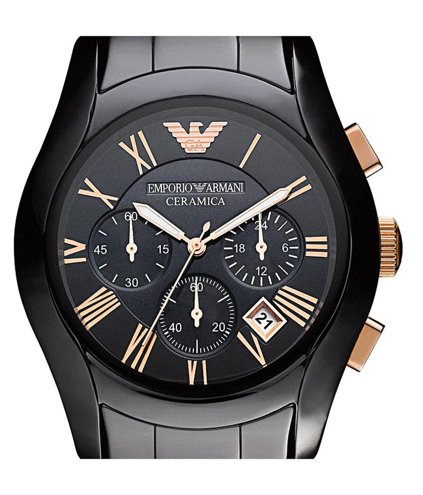 f5469164c42c Emporio Armani Ar-1410 Black Ceramic Men s Watch - Buy Emporio Armani  Ar-1410 Black Ceramic Men s Watch Online at Best Prices in India on Snapdeal