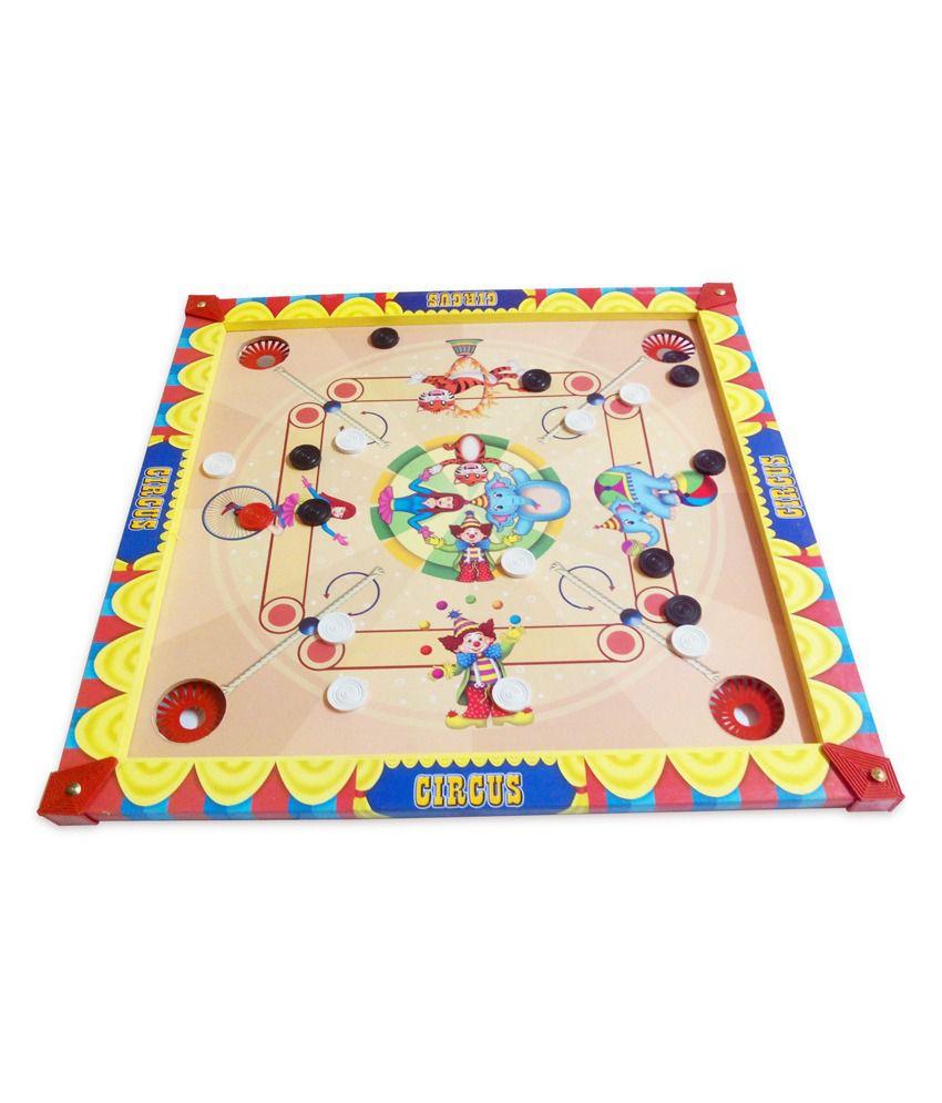 Prasima Toys 2-in-1 Circus Carom Board