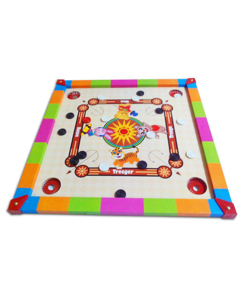 Prasima Toys 2-in-1 Smiley Carom Board