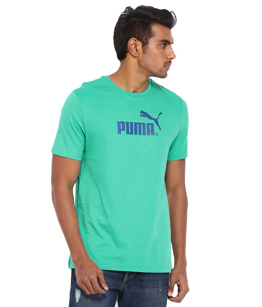 PUMA POOL GREEN LARGE NO.1 LOGO TEE