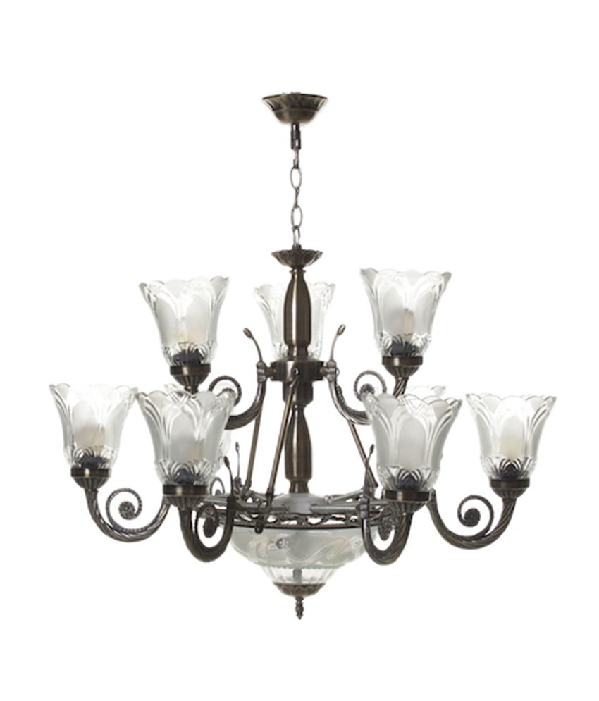 Aesthetichs white and silver aluminium antique chandelier with 12 aesthetichs white and silver aluminium antique chandelier with 12 lamps aloadofball Gallery