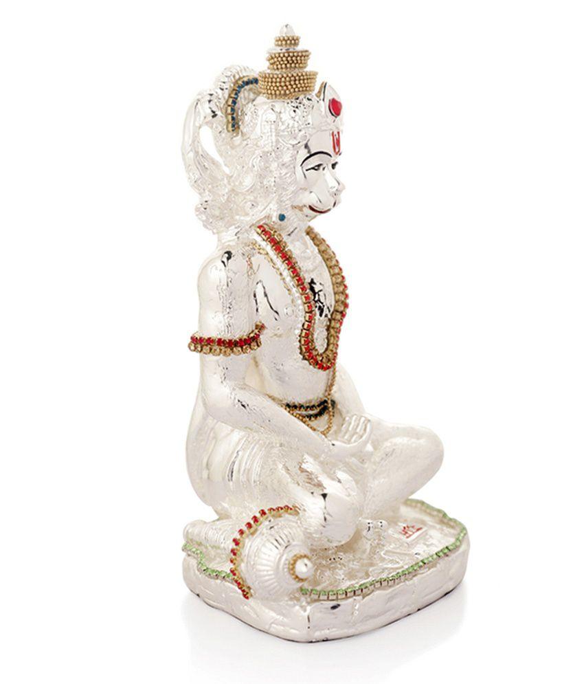 Episode Silver Plated Resin Hanuman Idol