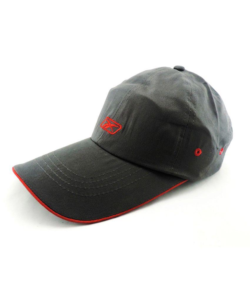 Jstarmart Gray Cotton Baseball Cap For Men