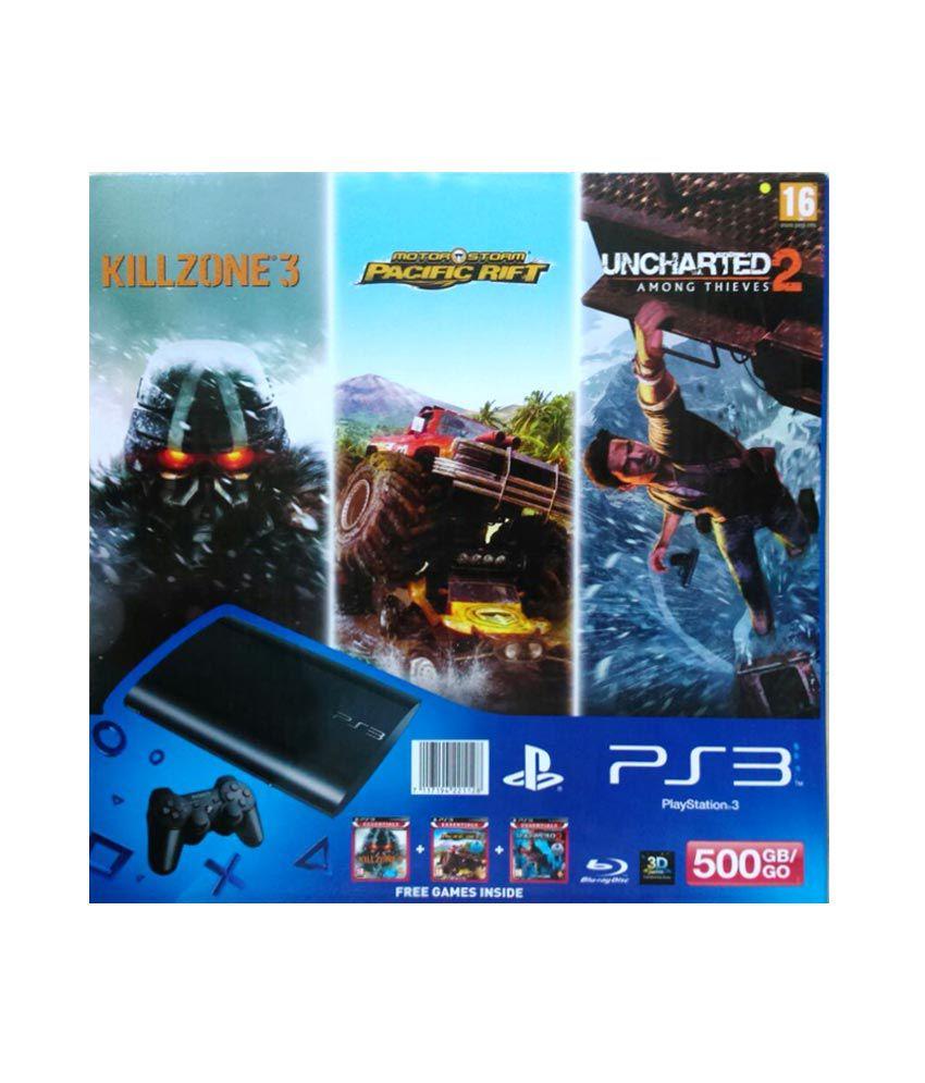 Sony Playstation 3 500 GB with Killzone 3, Uncharted 2 & Motorstorm