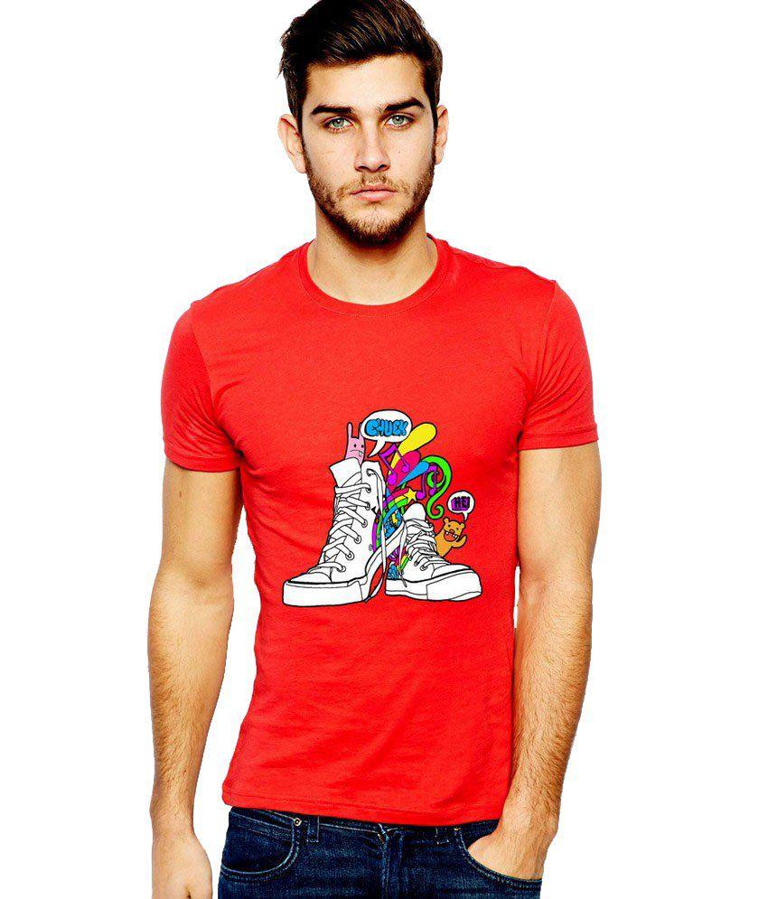 Ilyk Dancing Shoes Men Red Printed T-shirt