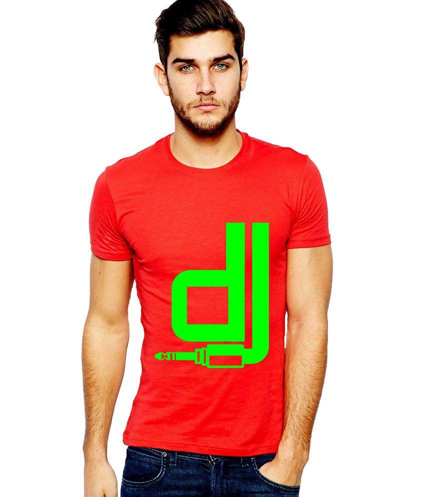 Ilyk Dj Men Red Printed T-shirt