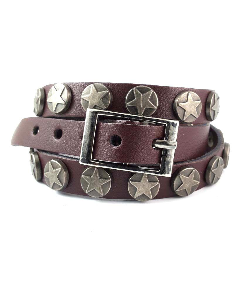 Ammvi Creations Vitruvian Leather Wrist Belt