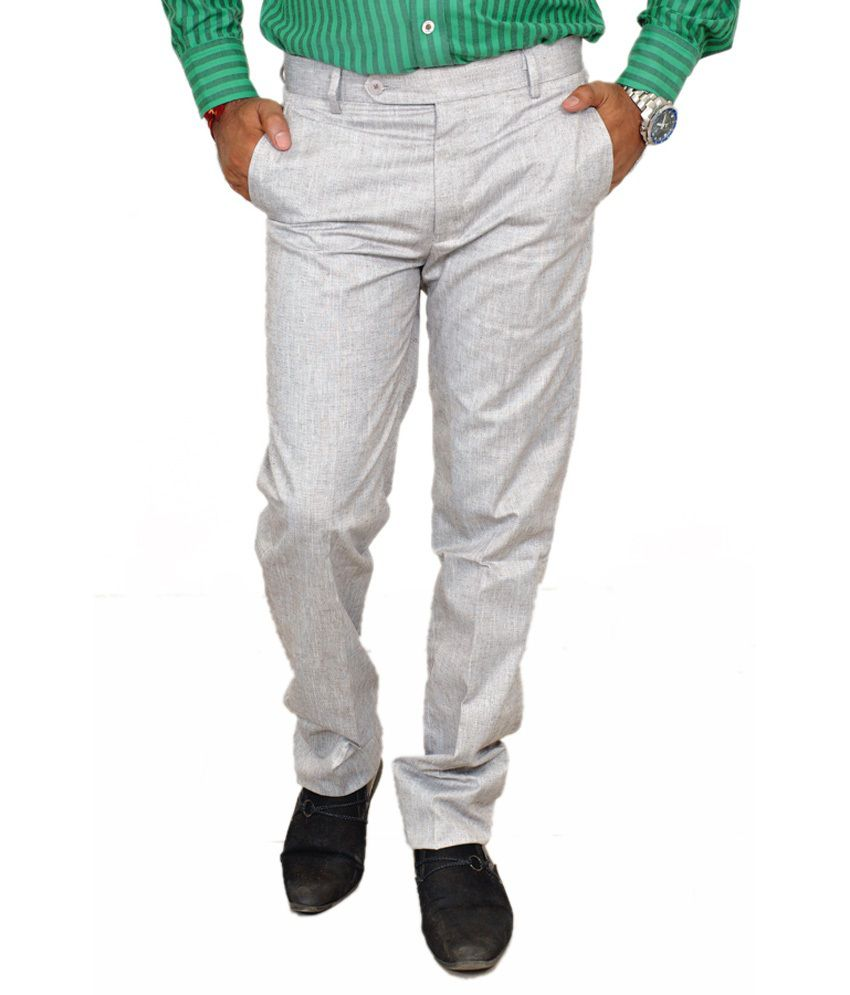 Review Lite Slate Gray Slim Formals And Party Wear Trouser