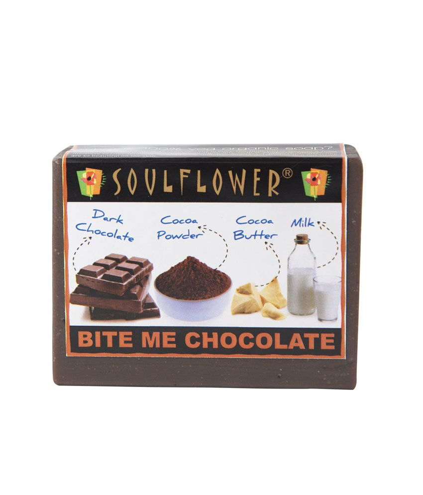 Soulflower Bite Me Chocolate Soap