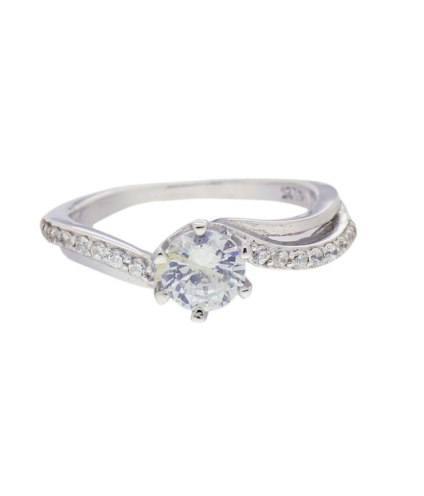 Zuri Jewels Elegant Cz Solitaire Ring