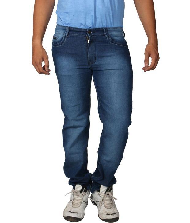 Don Viesel Blue Regular Cotton Blended Full Size Men's Jeans