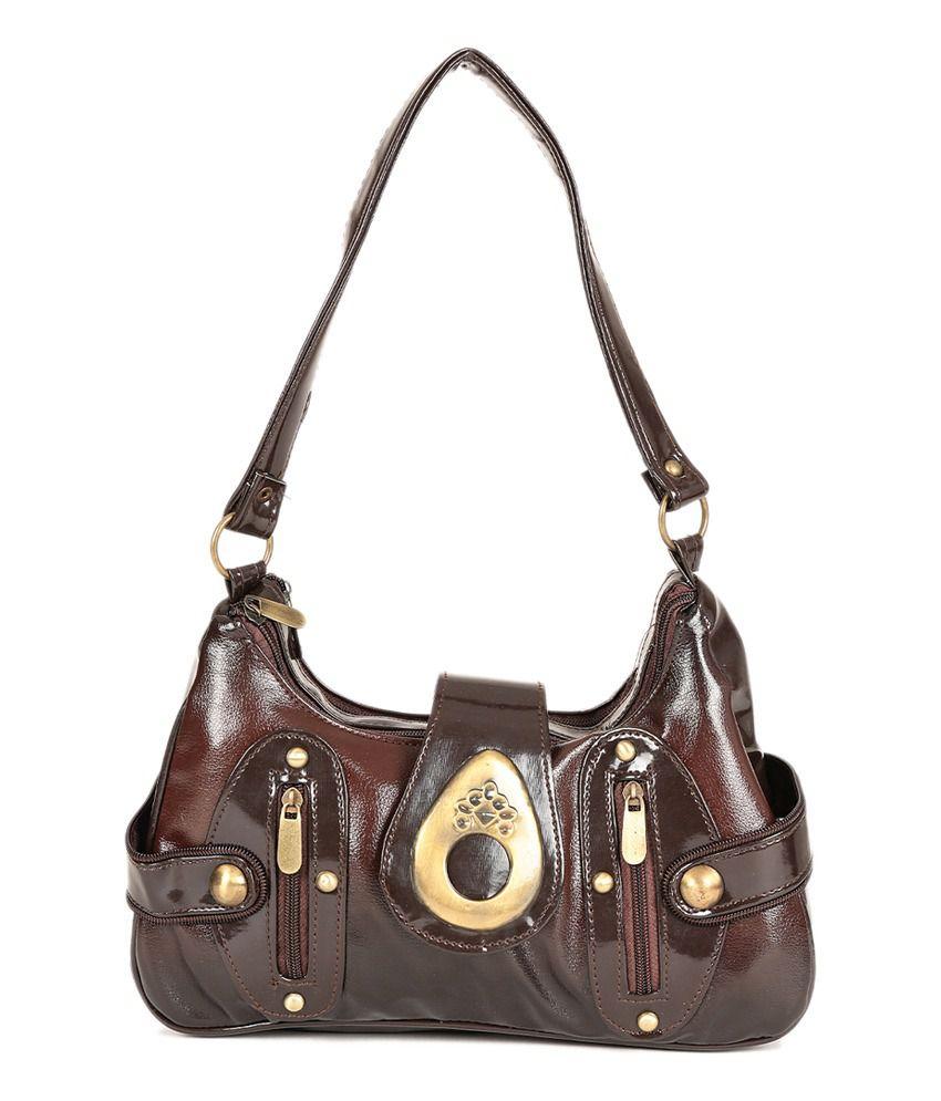 So Young Stylish Brown Woman Handbag