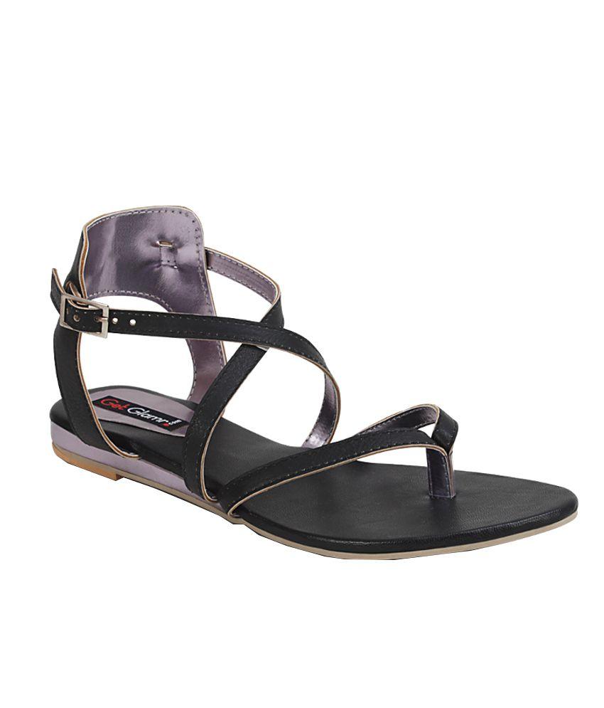 Get Glamr Black Sandal