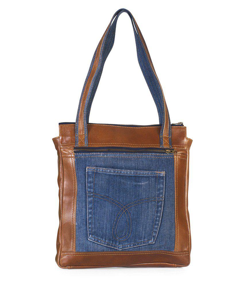 Hibiscus Fusion1-TAN-04 Tan Shoulder Bags