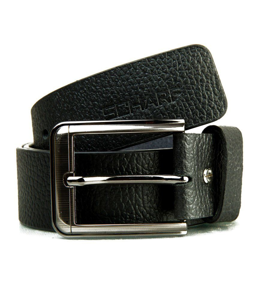 Scharf Genuine Leather Black Belt