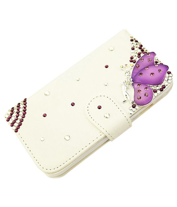 Violet Butterfly Design Leather Iphone 5 Case For By Returnfavors