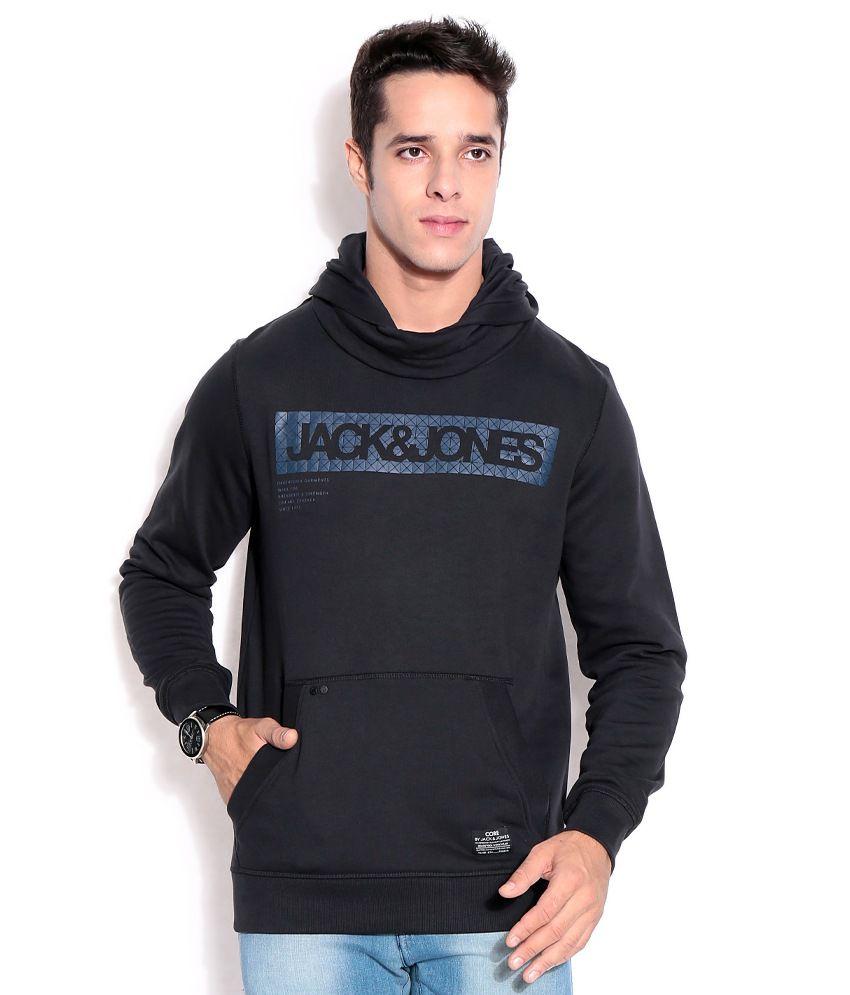brand new 14395 7ccdd Jack & Jones Black Cotton Sweatshirt