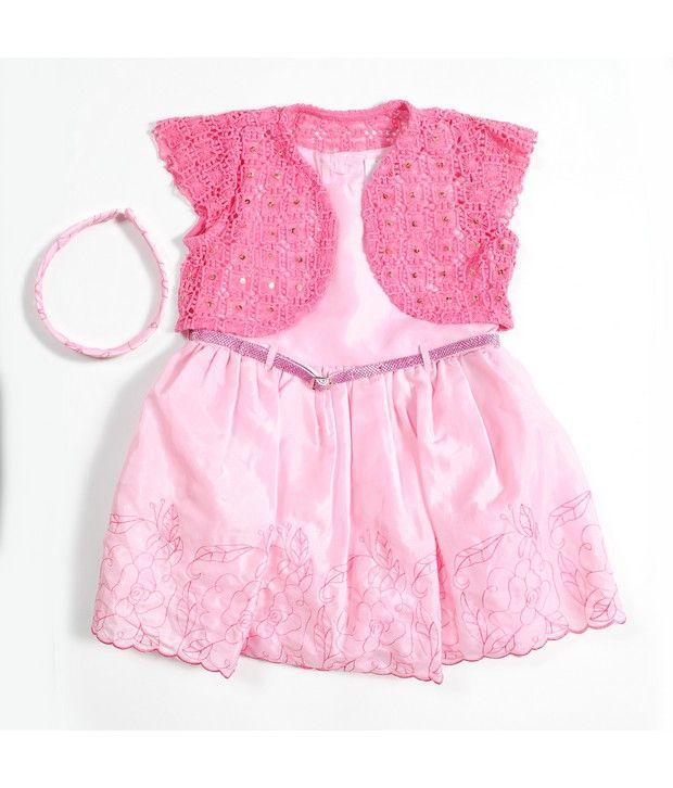 486305513 Nauti Nati Baby Pink Dress With Lace Shrug - Buy Nauti Nati Baby ...