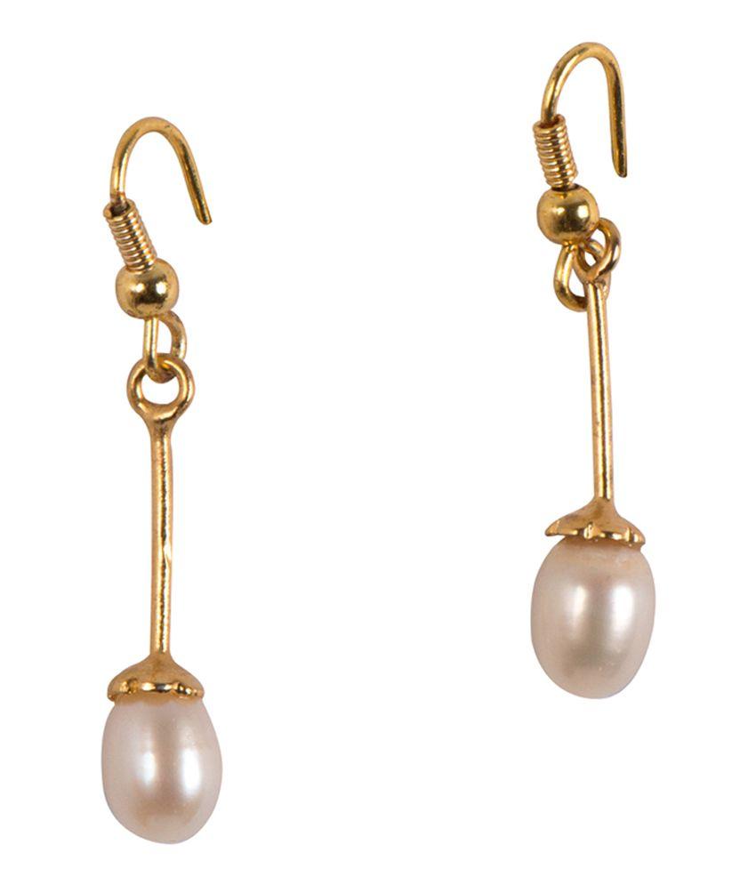 babd29e00 Taj Pearl Hanging Pearl Earrings - Buy Taj Pearl Hanging Pearl Earrings  Online at Best Prices in India on Snapdeal