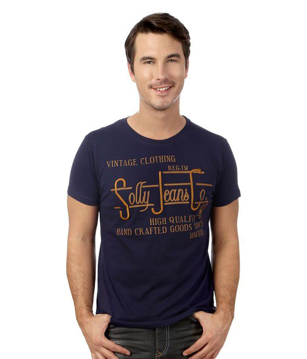 Allen Solly Navy Cotton T-shirt