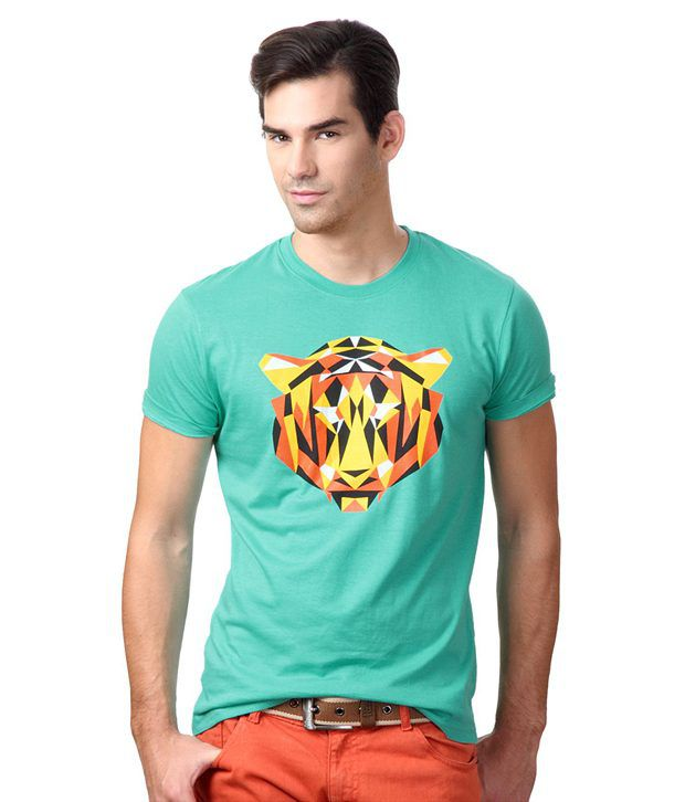 People Green Cotton T-shirt