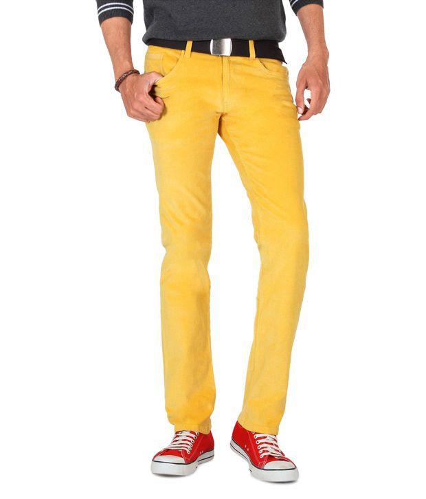 People Yellow Regular Casuals