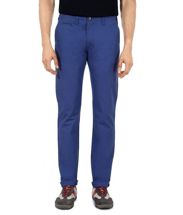 Peter England Blue Slim Casuals