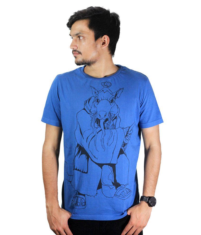 Teenage Mutant Ninja Turtle Blue Cotton T-shirt
