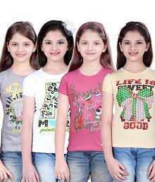 Sinimini Fashion Girls Top 4 Pcs Combo