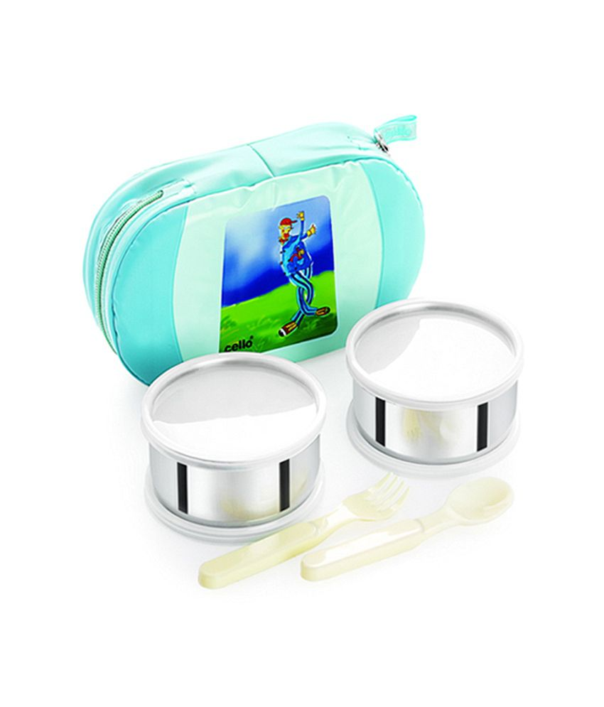 Cello Get Eat Lunch packs (2 Container) Green Muit