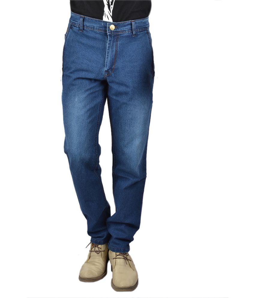 Jagged1 Blue Cotton Regular Fit Jeans