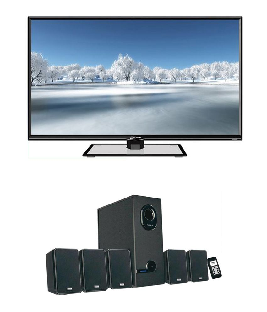Micromax 40T2820 Full HD LED Television + Philips DSP 2600 5.1 Speaker System
