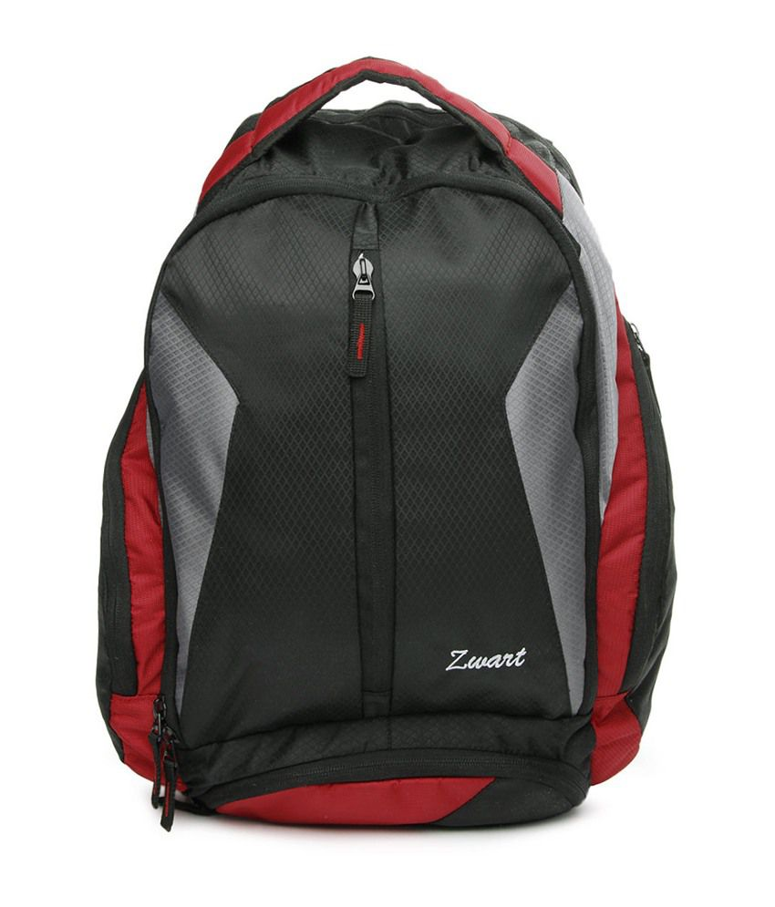 Zwart Red Polyester Backpack