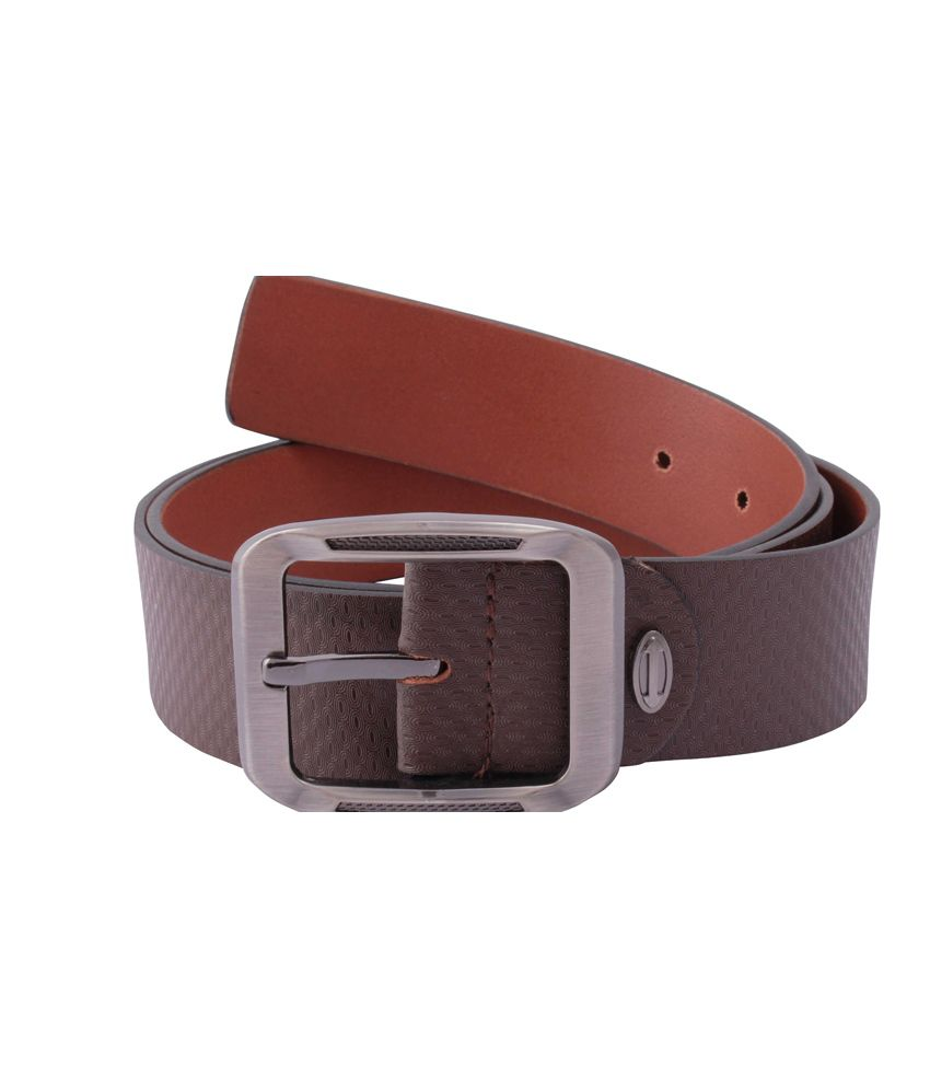 Belbuc Brown Leather Single Formal/casual Belt For Men