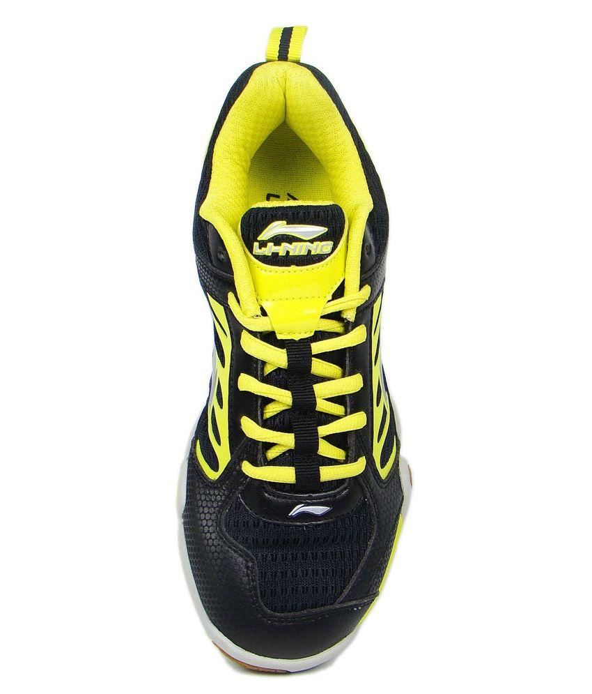 Li Ning Saga Tour Indoor Badminton Shoes Black Silver