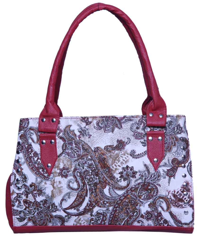 Notbad Nb-0009-cherry Red Shoulder Bags