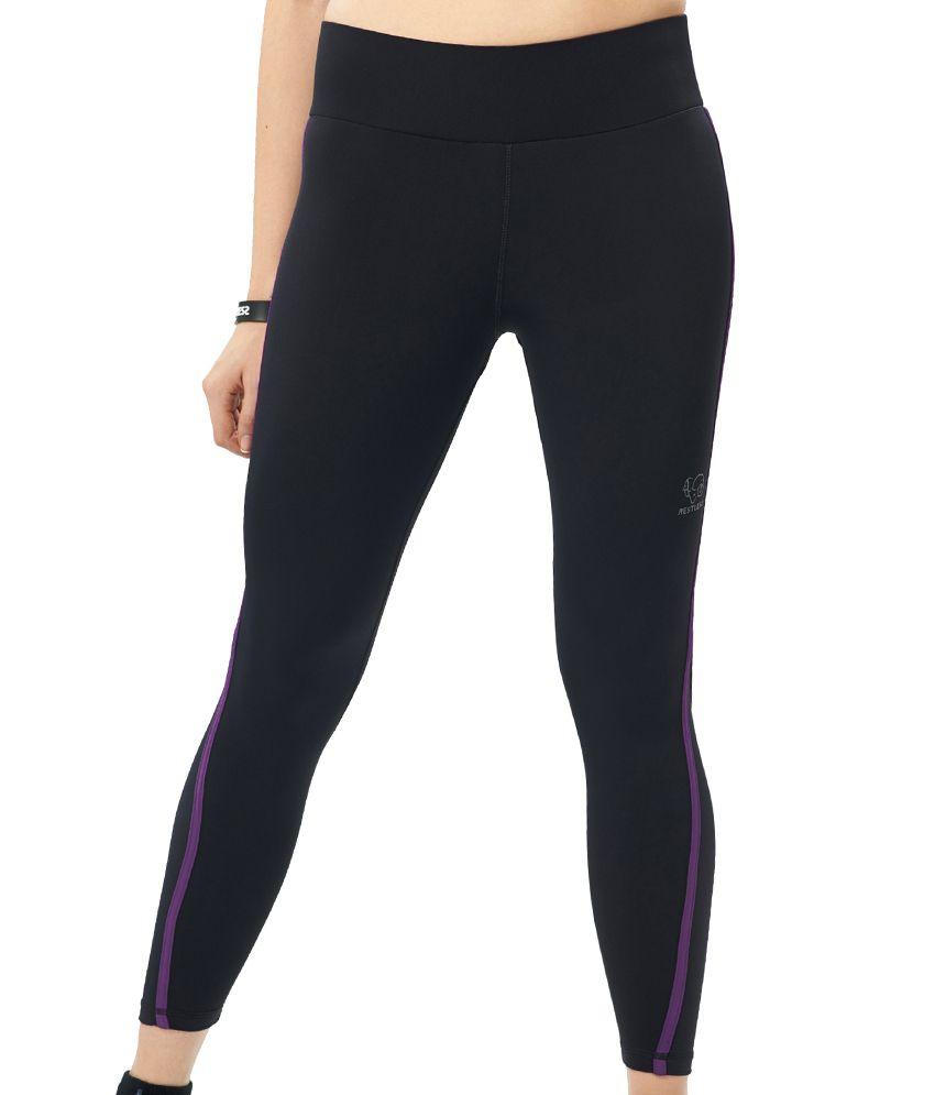 Restless Black/Purple Capri (Breathable Fabric )